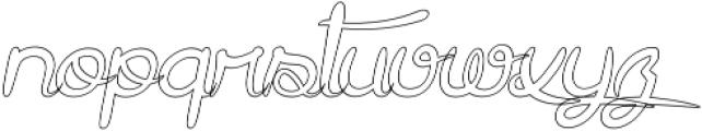 Gracia Oblique Outline otf (400) Font LOWERCASE