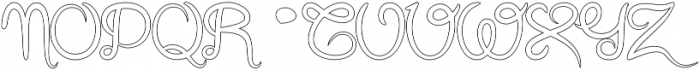 Gracia Outline otf (400) Font UPPERCASE