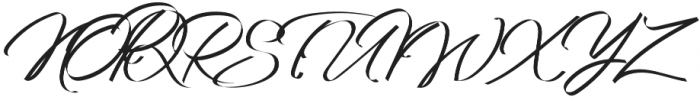 Grandhey Regular otf (400) Font UPPERCASE