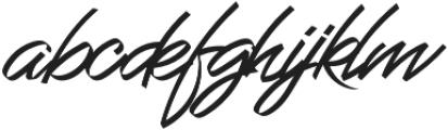 Grandhey Regular otf (400) Font LOWERCASE