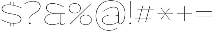 Grandi otf (100) Font OTHER CHARS