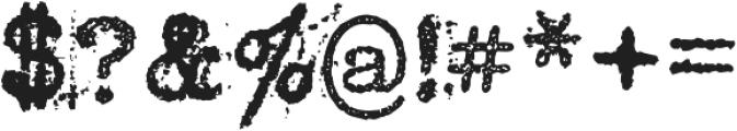 Grandpas Typewriter Four Regular otf (400) Font OTHER CHARS