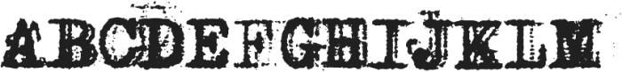 Grandpas Typewriter Four Regular otf (400) Font UPPERCASE