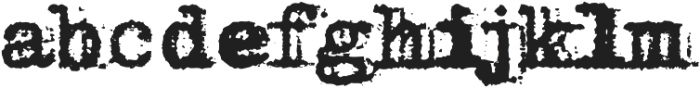 Grandpas Typewriter Four Regular otf (400) Font LOWERCASE