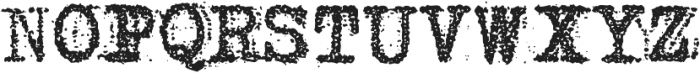 Grandpas Typewriter One Regular otf (400) Font UPPERCASE