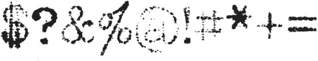 Grandpas Typewriter Three Regular otf (400) Font OTHER CHARS