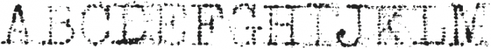 Grandpas Typewriter Three Regular otf (400) Font UPPERCASE