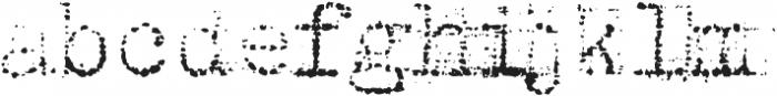 Grandpas Typewriter Three Regular otf (400) Font LOWERCASE