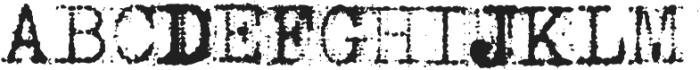 Grandpas Typewriter Two Regular otf (400) Font UPPERCASE