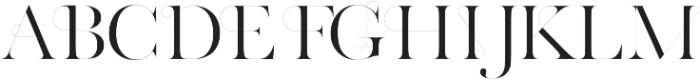 Grange Regular otf (400) Font UPPERCASE