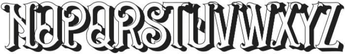 Grantmouth 3D Vol.2 otf (400) Font UPPERCASE