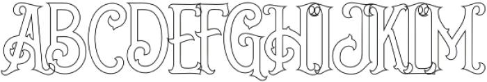 Grantmouth Outline Vol.2 otf (400) Font UPPERCASE