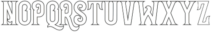 Grantmouth Outline Vol.2 otf (400) Font LOWERCASE