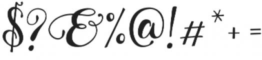 Granville Script otf (400) Font OTHER CHARS