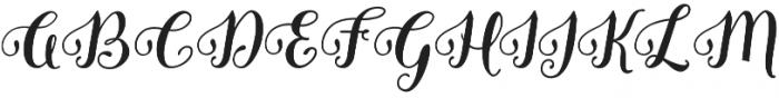 Granville Script otf (400) Font UPPERCASE
