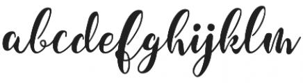 Granville Script otf (400) Font LOWERCASE
