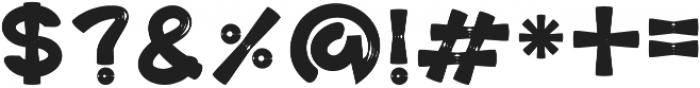 Graphicgo-BonkWood Bold otf (700) Font OTHER CHARS