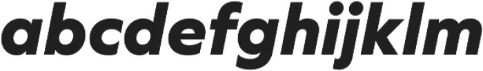 Graphie ExtraBold Italic otf (700) Font LOWERCASE