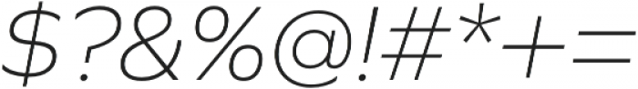 Graphie ExtraLight Italic otf (200) Font OTHER CHARS