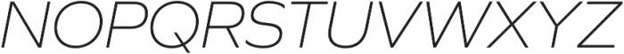 Graphie ExtraLight Italic otf (200) Font UPPERCASE