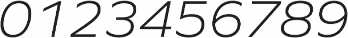 Graphie Light Italic otf (300) Font OTHER CHARS