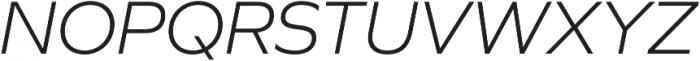 Graphie Light Italic otf (300) Font UPPERCASE