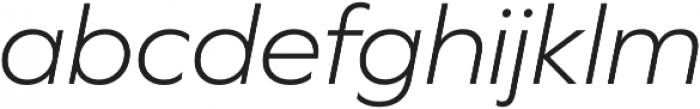 Graphie Light Italic otf (300) Font LOWERCASE