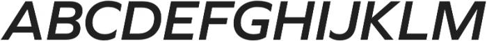 Graphie SemiBold Italic otf (600) Font UPPERCASE