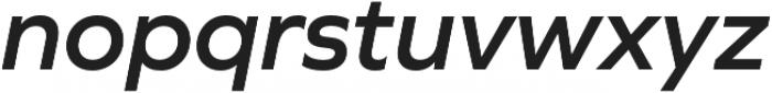 Graphie SemiBold Italic otf (600) Font LOWERCASE