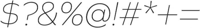 Graphie Thin Italic otf (100) Font OTHER CHARS