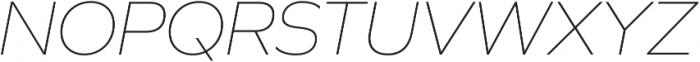 Graphie Thin Italic otf (100) Font UPPERCASE