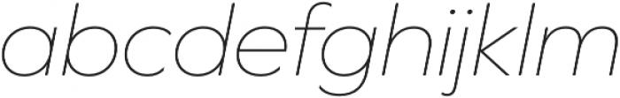 Graphie Thin Italic otf (100) Font LOWERCASE
