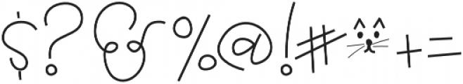 Grateful otf (400) Font OTHER CHARS