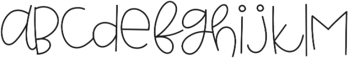 Grateful otf (400) Font LOWERCASE