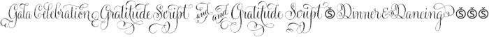 Gratitude Script Words Normal otf (400) Font OTHER CHARS