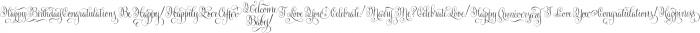 Gratitude Script Words Normal otf (400) Font LOWERCASE