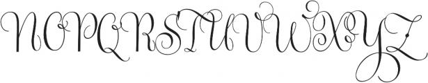 Gratitude Smooth Script Pro otf (400) Font UPPERCASE