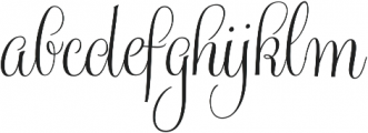 Gratitude Smooth Script Pro otf (400) Font LOWERCASE