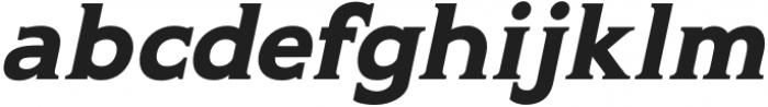 Gravis Medium Italic otf (500) Font LOWERCASE
