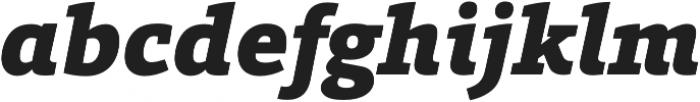 Grazie-BlackItalic otf (900) Font LOWERCASE