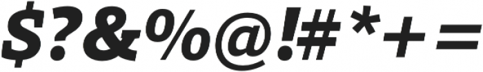 Grazie-ExtraBoldItalic otf (700) Font OTHER CHARS
