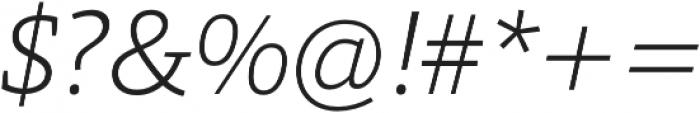 Grazie-ExtraLightItalic otf (200) Font OTHER CHARS