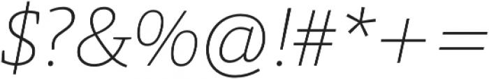 Grazie-ThinItalic otf (100) Font OTHER CHARS