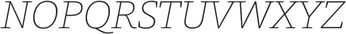 Grazie-ThinItalic otf (100) Font UPPERCASE