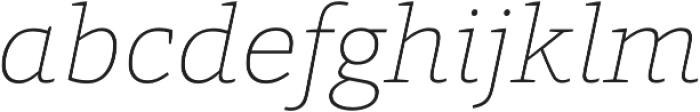 Grazie-ThinItalic otf (100) Font LOWERCASE