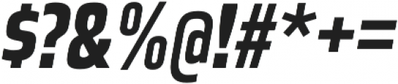 Great Escape Narrow Bold Italic otf (700) Font OTHER CHARS