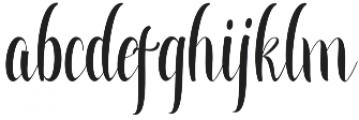 Greatfull otf (400) Font LOWERCASE