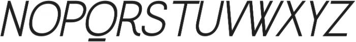 Greback Grotesque Medium Italic otf (500) Font UPPERCASE