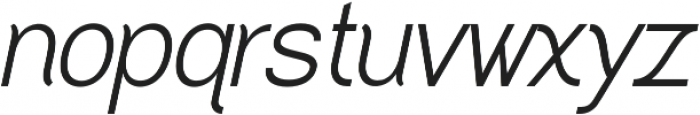 Greback Grotesque Medium Italic otf (500) Font LOWERCASE