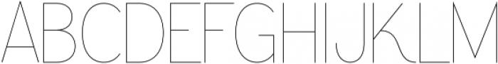 Greback Grotesque Thin otf (100) Font UPPERCASE